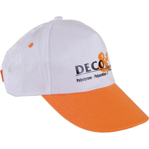 0302 Beyaz - Turuncu Siperli Şapka