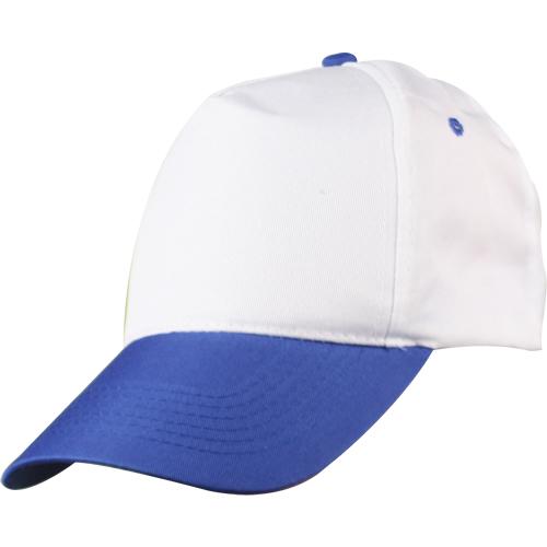 0302 Beyaz - Saks Mavi Siperli Şapka