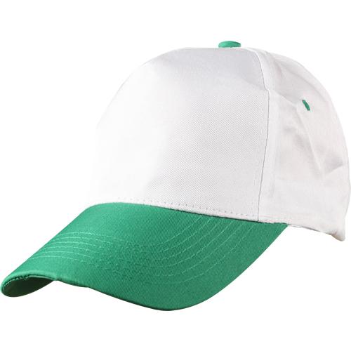 0302 Beyaz - Yeşil Siperli Şapka