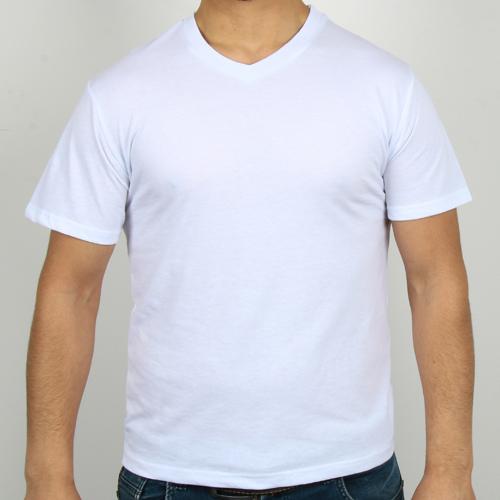 5200-13 Bisiklet Yaka Beyaz Tişört