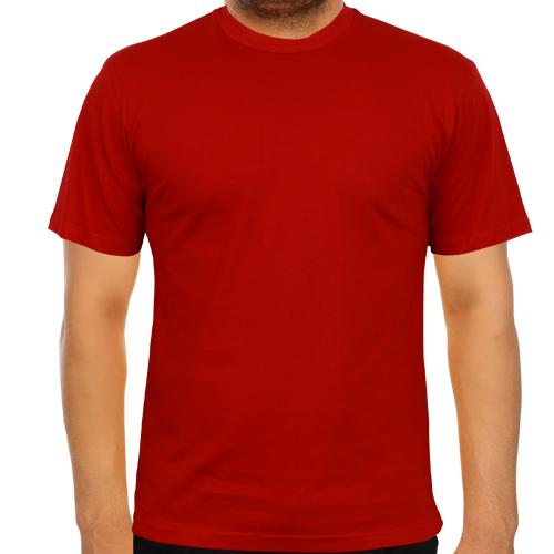 5200-13 Bisiklet Yaka Kırmızı Tişört
