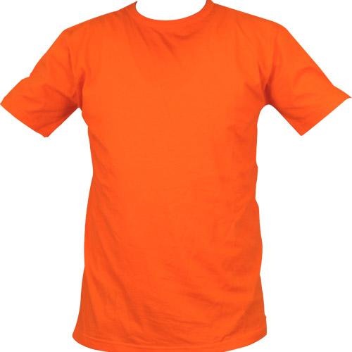 5200-18 Bisiklet Yaka Turuncu Tişört