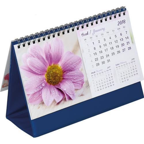 AMT-05 Çiçekler Masa Takvimi